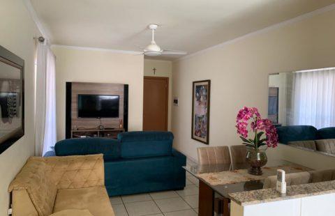 Apartamento MOBILIADO com 2 vagas de garagem e 2 dormitórios para locação no condomínio Portal Vitória, em Rio Claro/SP